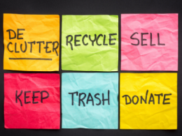 Sign - Declutter Recycle Sell keep Trash Donate
