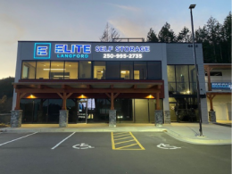 Exterior of Elite Self Storage with LED Sign