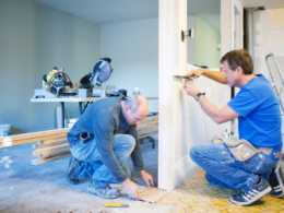 Two men doing home renovations