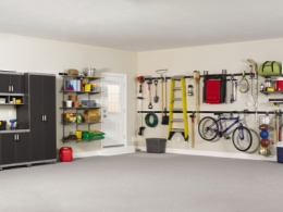 Garage with shelving storage solutions