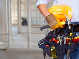 Contractor with tool belt
