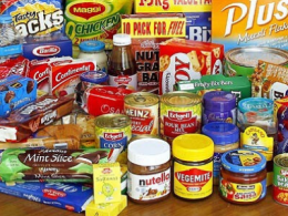 Food products not to be stored in a storage unit